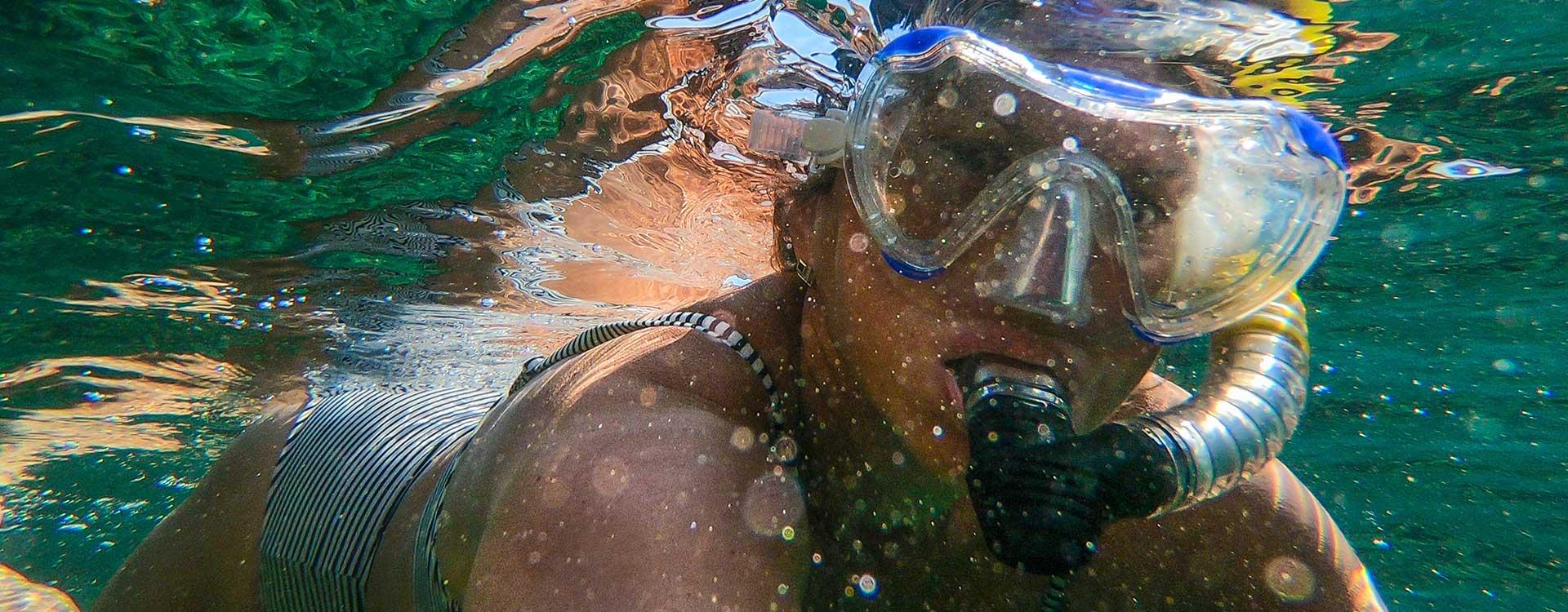 Snorkeling at Pirates' Caves